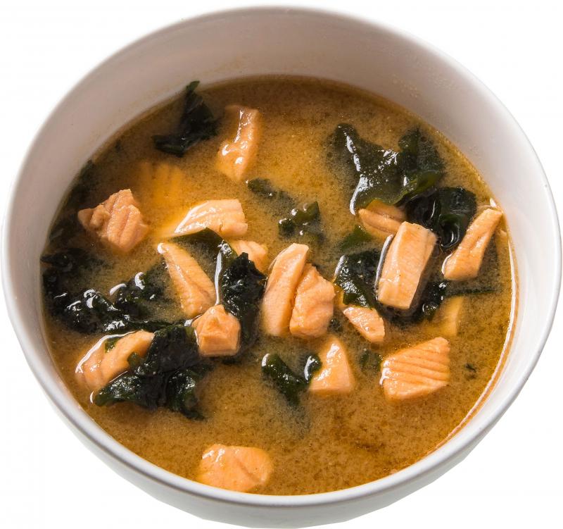 Мисо - суп с лососем