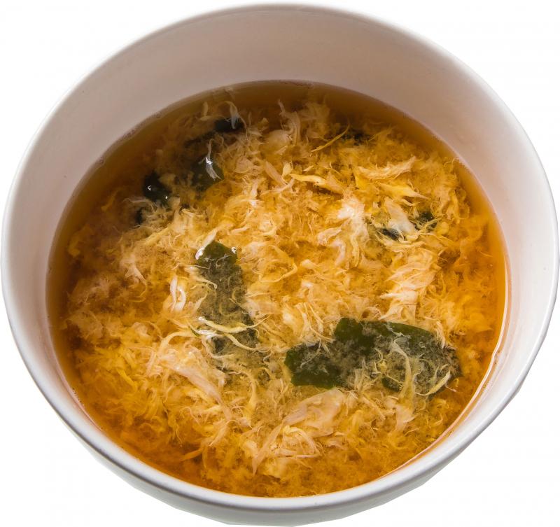 Мисо - суп с яйцом